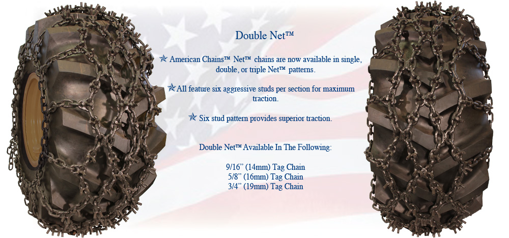 American Chains Double Net Studded Tire Chain
